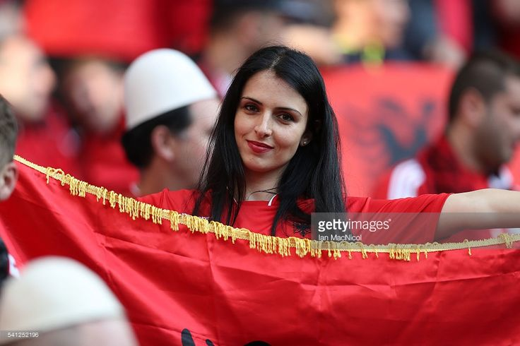 Beautiful Albanian Fans at Euro 2016 championship.