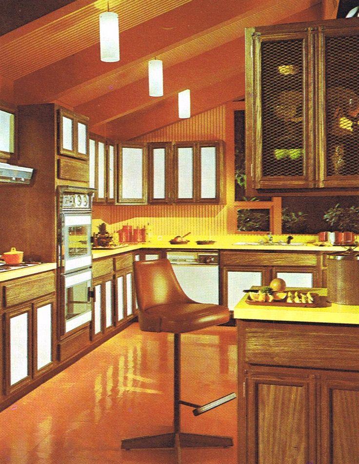 1970s Tappan Kitchen  Mid Century Modern Kitchens