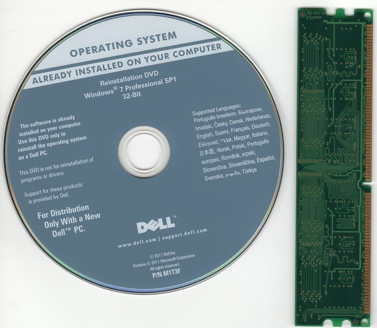 Dell Windows 7 Professional SP1 32-Bit Reinstallation Recovery DVD  RAM opened
