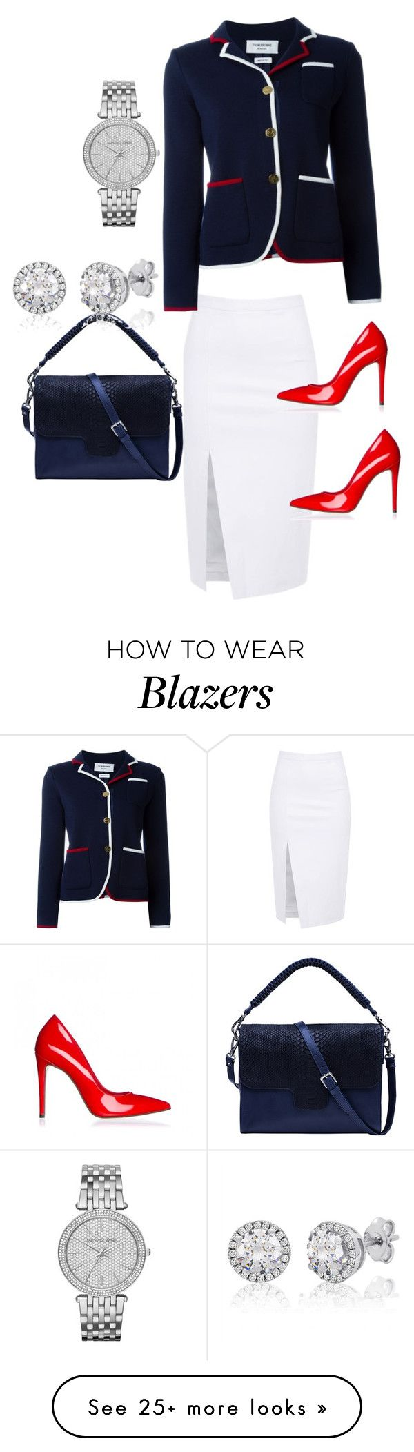 """Untitled #355"" by stylemirror on Polyvore featuring Thom Browne, Lili Radu and Michael Kors"