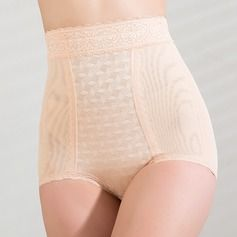 Shapewear - $20.99 - Chinlon with Lace High Waist Shaping Panties  http://www.dressfirst.com/Chinlon-With-Lace-High-Waist-Shaping-Panties-125033458-g33458