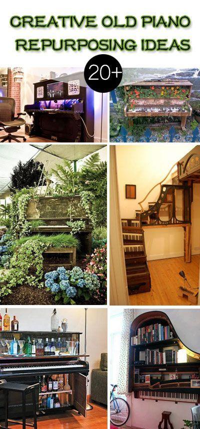 20+ Creative Old Piano Repurposing Ideas • Great DIY Ideas & Projects!
