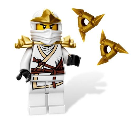 new lego ninjago zane zx minifig w gold shuriken ninja stars minifigure white ebay costumes. Black Bedroom Furniture Sets. Home Design Ideas