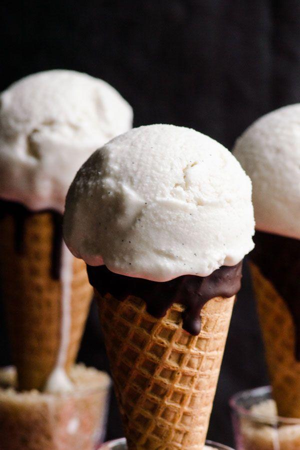 Vanilla ice cream made with coconut milk, maple syrup and vanilla extract. Vegan, gluten free, dairy free and delicious coconut ice cream recipe.