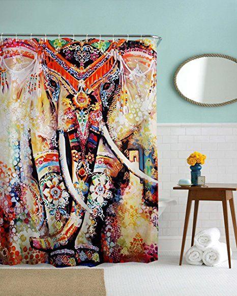 Elephant Shower Curtain By Mimihome Indian Bohimian Boho Style