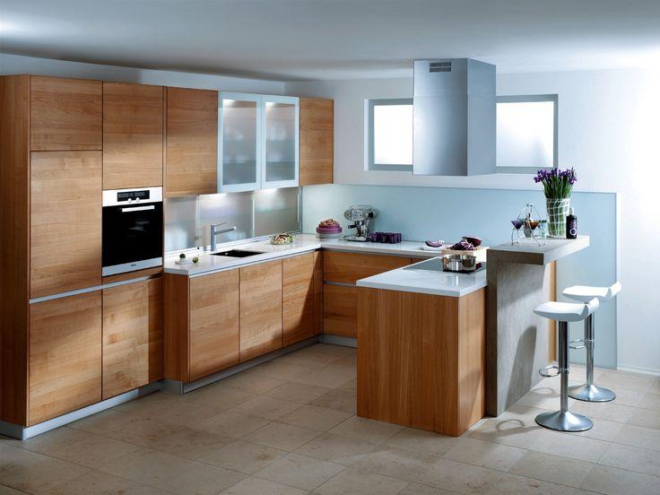 Küche Kirschbaum massiv geölt modern grifflos - bei Möbel - küchen für kleine räume