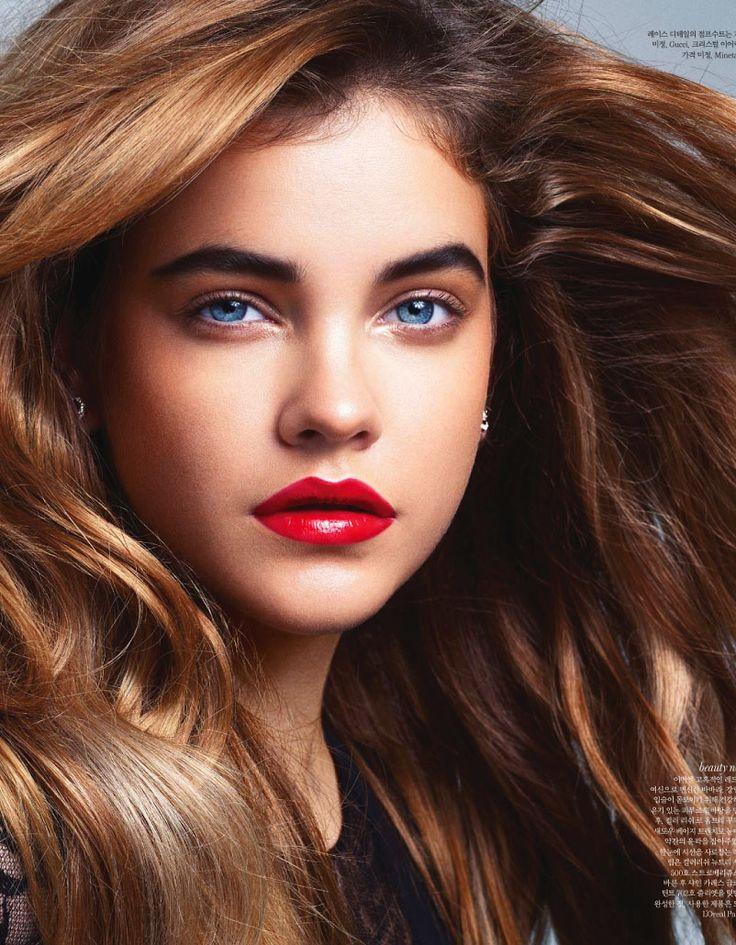 Barbara Palvin Bright Blue Eyes Caramel Hair And