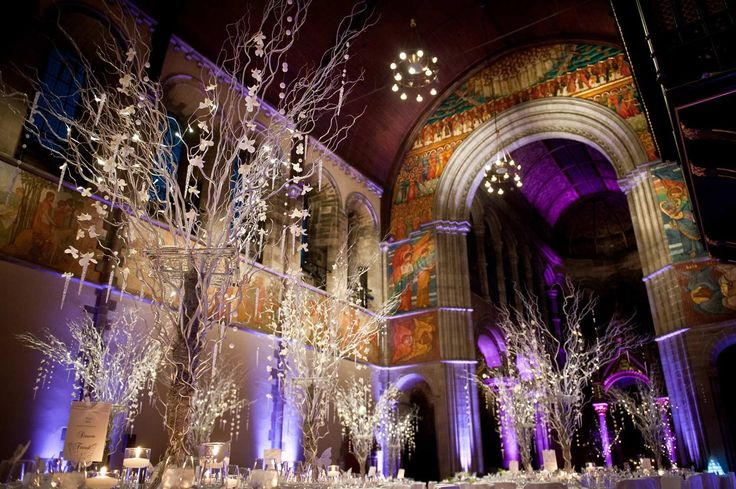Orchid, Willow & Crystal table decor    Wedding & Reception Venue Hire :: Edinburgh, Scotland