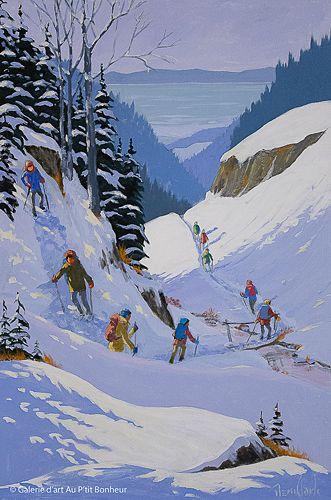 Rémi Clark, 'À la traversée du ruisseau', 20'' x 30'' | Galerie d'art - Au P'tit Bonheur - Art Gallery