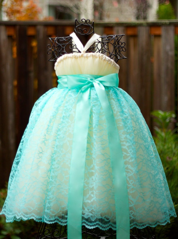 Ivory Flower Girl Tutu Dress - another possibility for Renny.