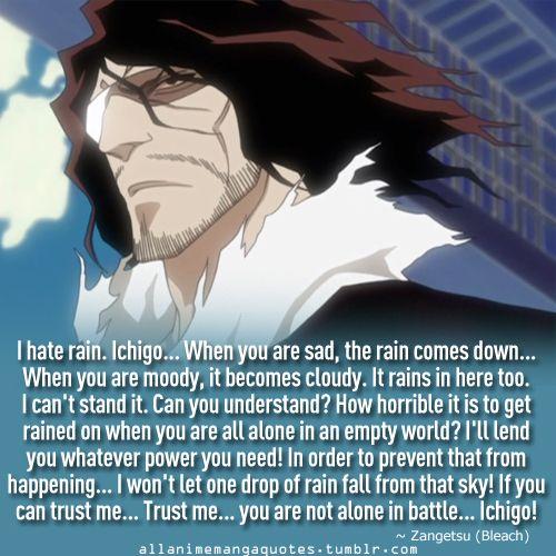 Bleach Zangetsu, must be a sad existence when it rains