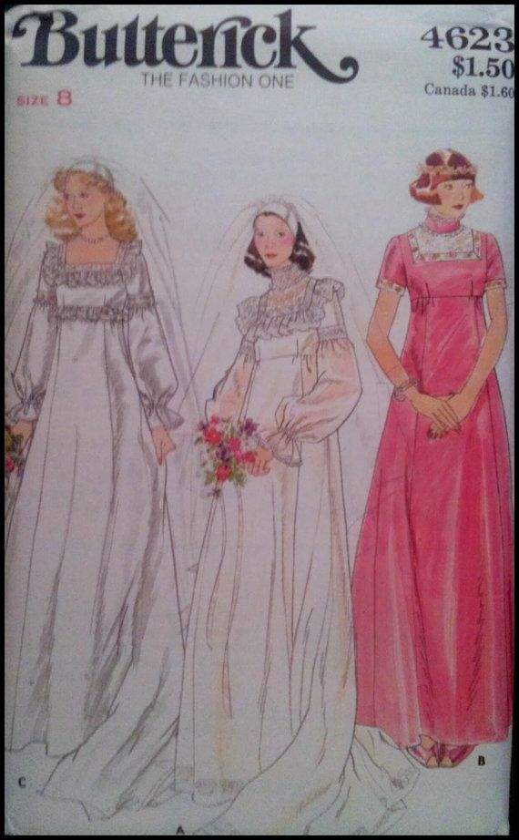 Butterick 4623 misses 39 bridal bridesmaid by for Butterick wedding dress patterns