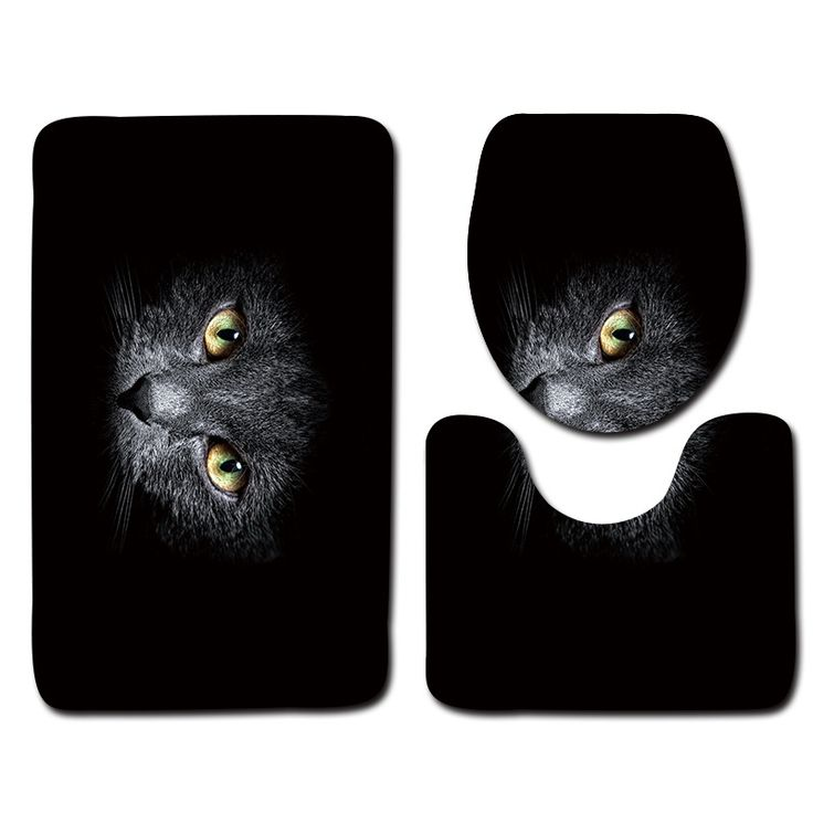 Cheap mats set, Buy Quality bathroom mat set directly from China slip bath mat Suppliers: Black Bathroom Mat Set 3pcs Cat Pattern Anti Slip Bath Mat Soft Foam Bathroom Rug Modern Toilet Mat Sets