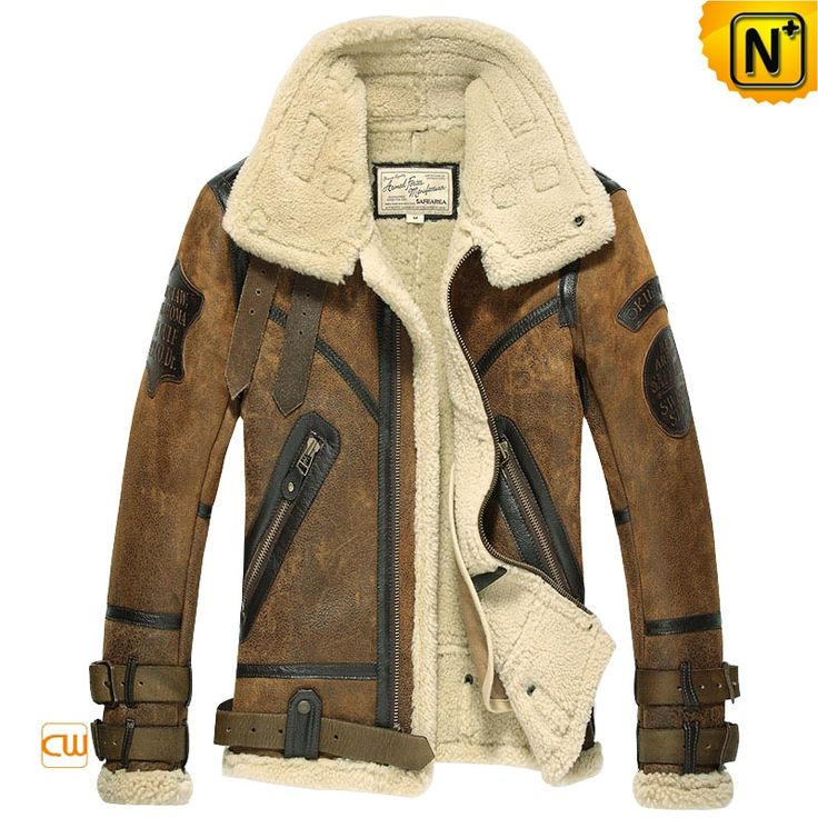 www.cwmalls.com - Designer Sheepskin Shearling Jacket for Men CW877168 $1595.89 #The Gelid Series# Extremely cold weather; in our northern hemisphere, the way people fend off the cold is undergoing a big change, here Cwmalls Commodity offers natural, warm products-fur lined leather jackets, shearling coats for you to choose and to share; all our products are high quality, stylish stereo cutting, make you different and warm in this cold winter, The gelid is not cold, the warmth is in Cwmalls!