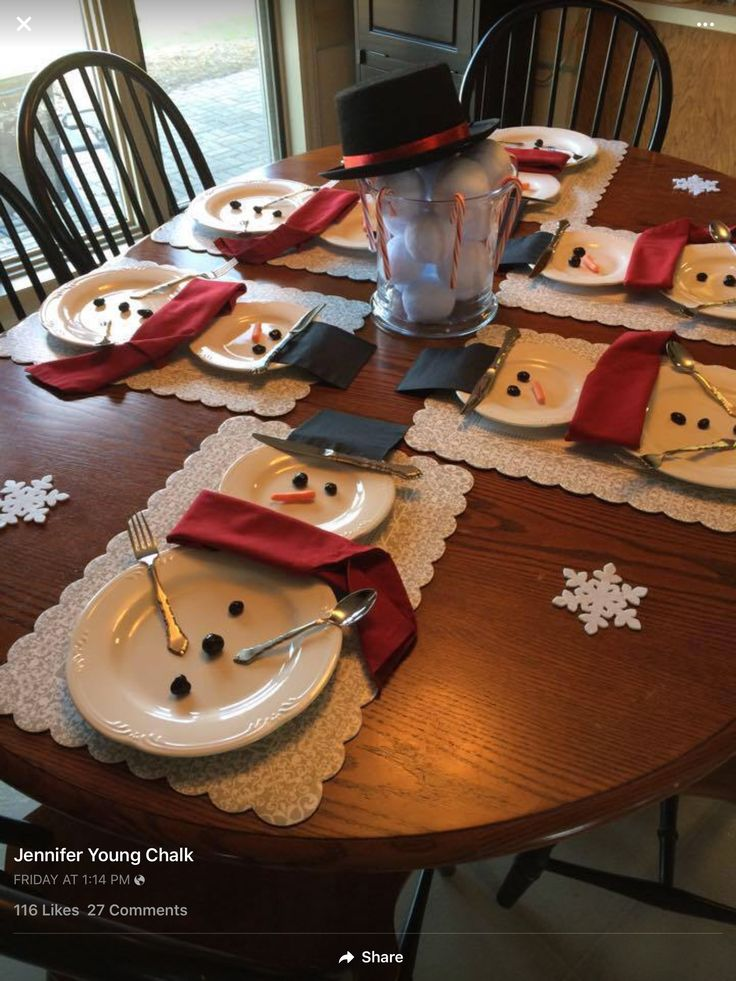 Snowmen Winter Table
