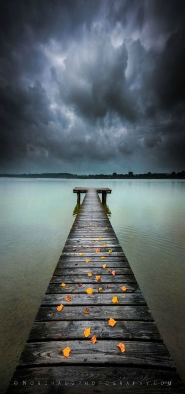 Approaching storm, Ammersee, Bavaria, Germany by Dag Ole Nordhaug
