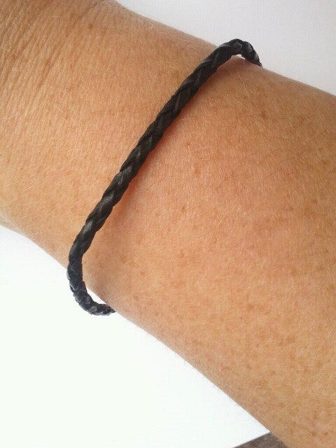 Minimalist Black Thin Leather Mens Bracelet By Flyingartgarden 12 90 Available In More Colors Coming Soon My Etsy Pinterest Men