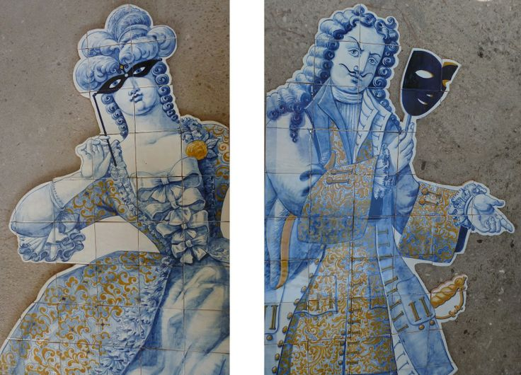 Playful figuras de convite! Have to love 18th century Portuguese tile works!
