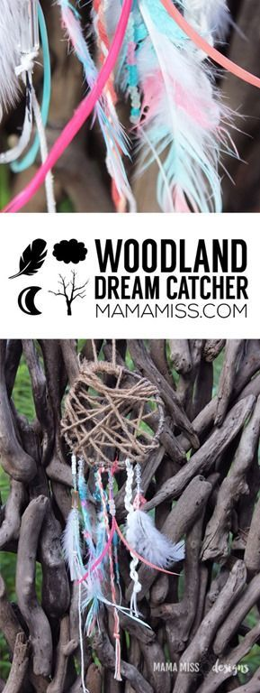 Gorgeous kid craft. Homemade Dream Catchers to chase away bad dreams.