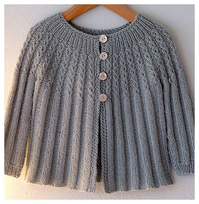 Baby Cardigan ~ knit by Alicia Paulson; vintage pattern (link to Ravelry info here: http://www.ravelry.com/patterns/sources/bernat-87-baby-fashions)