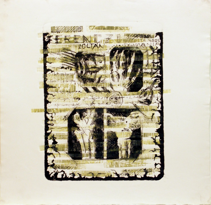 Lithography, linocut, blank prints, 1997