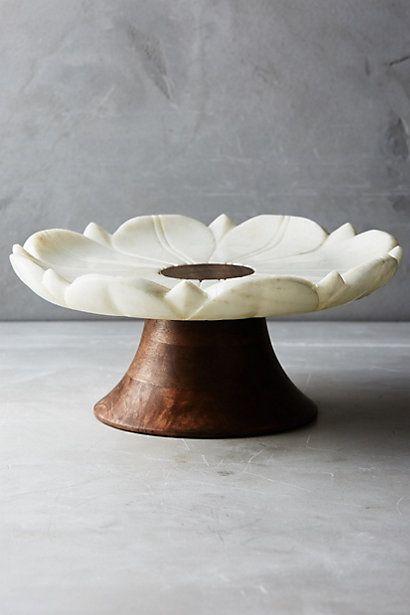 Marble Garden Cake Stand #anthropologie