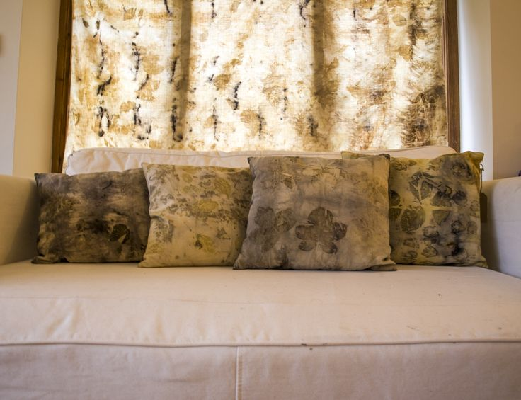 pillows made with ecoprint