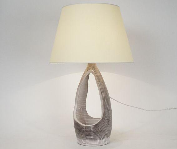 Lampe en céramique XXème siècle J Austruy Hauteur avec abat - jour : 58 cm www.jifcollin.com
