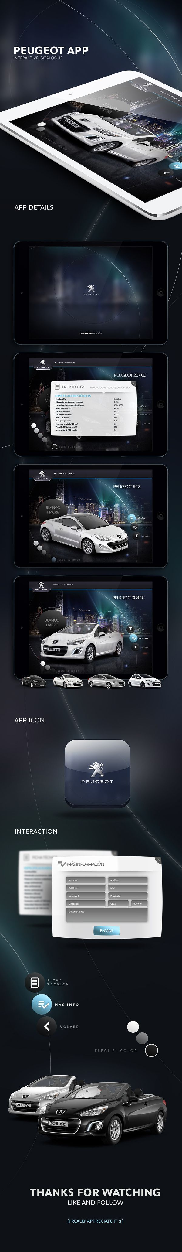 Peugeot | App by Lucas Nikitczuk, via Behance