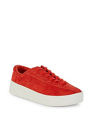 TRETORN NYLITE SUEDE LOW-TOP SNEAKERS. #tretorn #shoes #