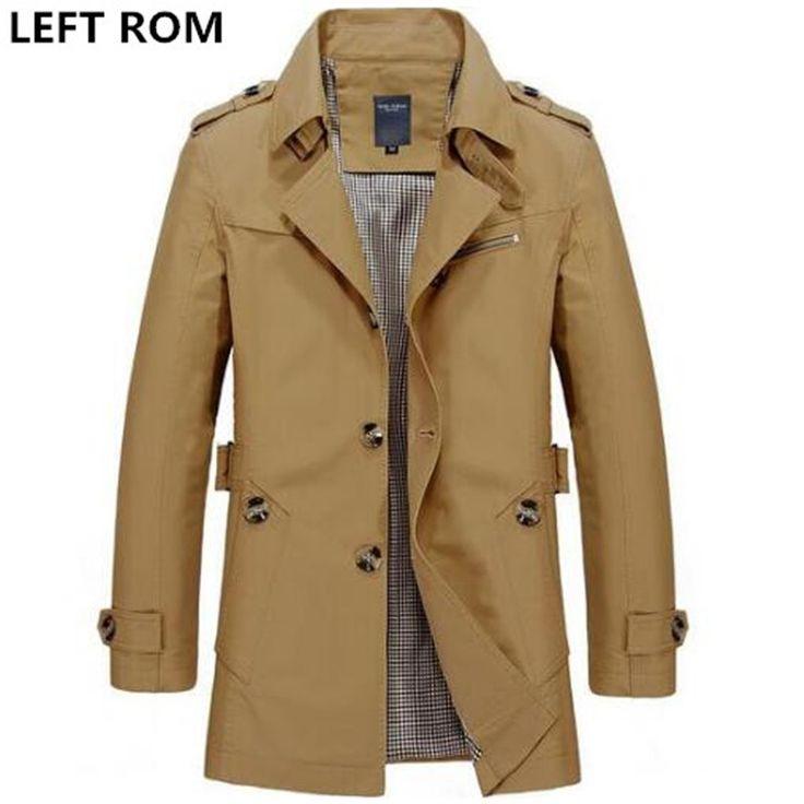 安い左romファッション男性は高級で冬スリムフィットカジュアルトレンチコート/男性純粋な色純粋な綿長いジャケット、購入品質トレンチ、直接中国のサプライヤーから:左romファッション男性は高級で冬スリムフィットカジュアルトレンチコート/男性純粋な色純粋な綿長いジャケット