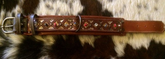 Precious dog collar '' Sam '' Collection by CaveCanemItaly on Etsy