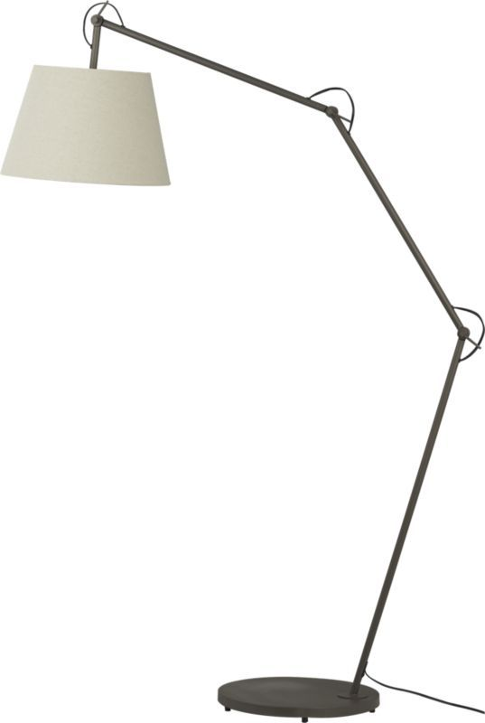 Joint floor lamp cb2 home decor pinterest for Cb2 orange floor lamp