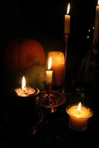 Candles and pumpkins. How I miss fall.