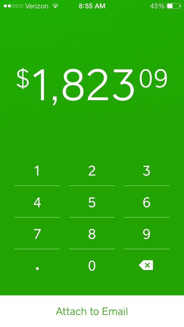 Square Cash: Love the simplicity and error handling of amount entry