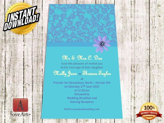 Hey, I found this really awesome Etsy listing at https://www.etsy.com/listing/233621238/instant-download-2in1-wedding-card-fully