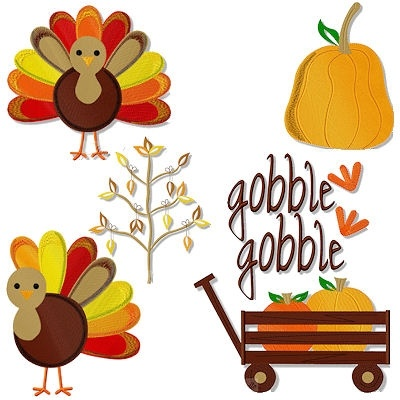 1000 Images About Thanksgiving Embroidery Designs On