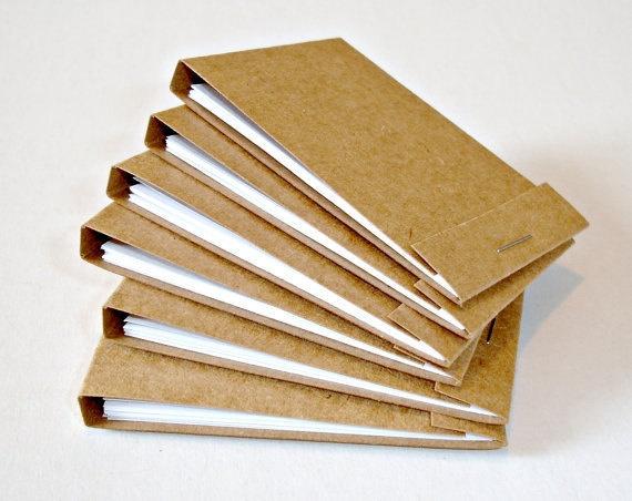 Kraft matchbook notepads Handmade matchbook by LoveSweetCaroline, $1.25