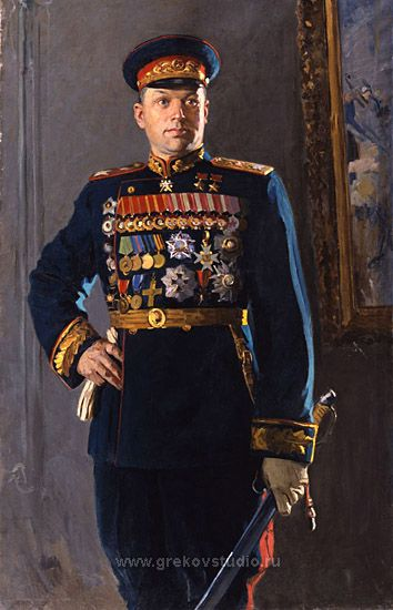 КИТАЙКА Константин Демьянович<br><b>Портрет маршала Советского Союза<br> К.К. Рокоссовского. 1948</b><br>Холст. Масло. 202х122