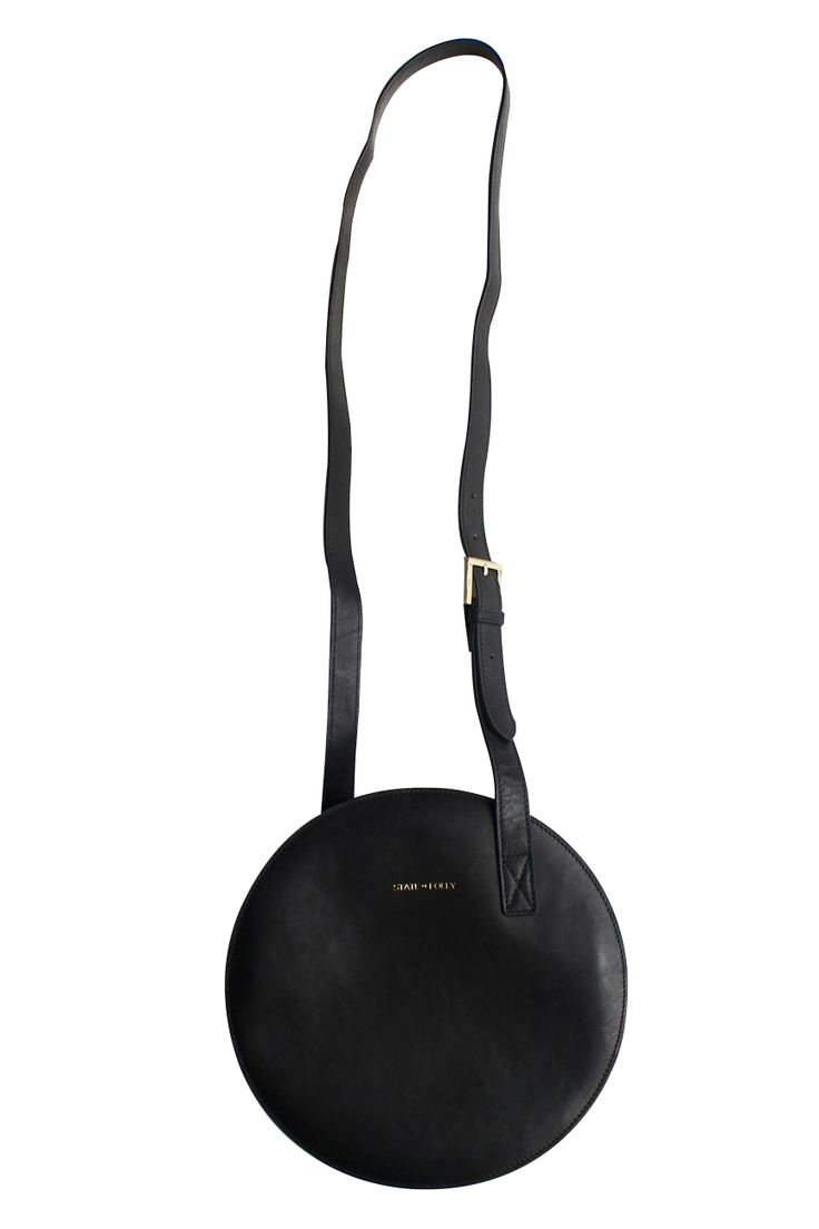 Circle Black Leather Bag