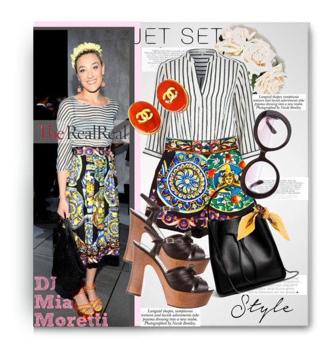 """Jet Set Style With DJ Mia Moretti & The RealReal: Contest Entry"" by katiegillharrison on Polyvore featuring LARA, Nicole, River Island, Dolce&Gabbana, Yves Saint Laurent, 3.1 Phillip Lim, Chanel, Prada, Hermès and contestentry"