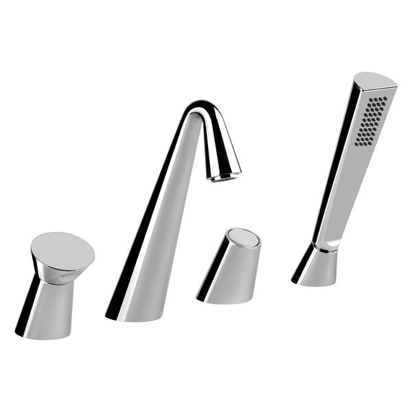 45037 Gessi Cono Four Hole Bath Mixer #abeyaustralia #gessi #chrome #bathmixer  #prosperorasulo
