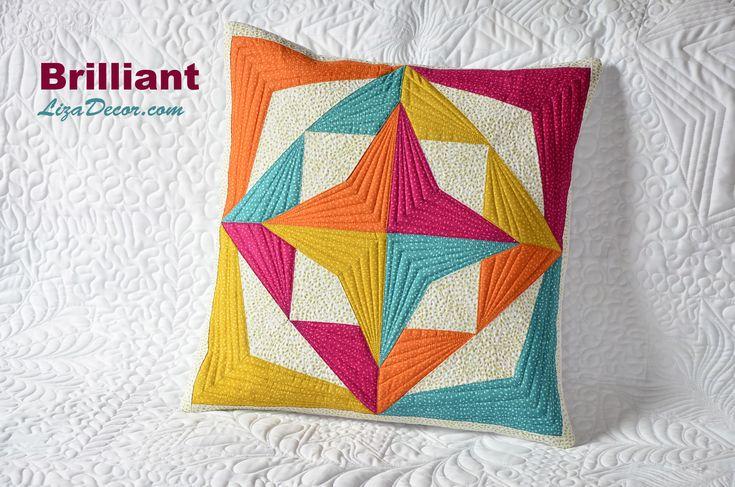 Patchworková šablona Brilliant #patchwork #lizadecor #video #tutorial #vzory #šablony #pattern #brilliant #quilt