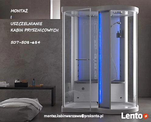 Montaż i uszczelnianie kabin prysznicowych Piaseczno