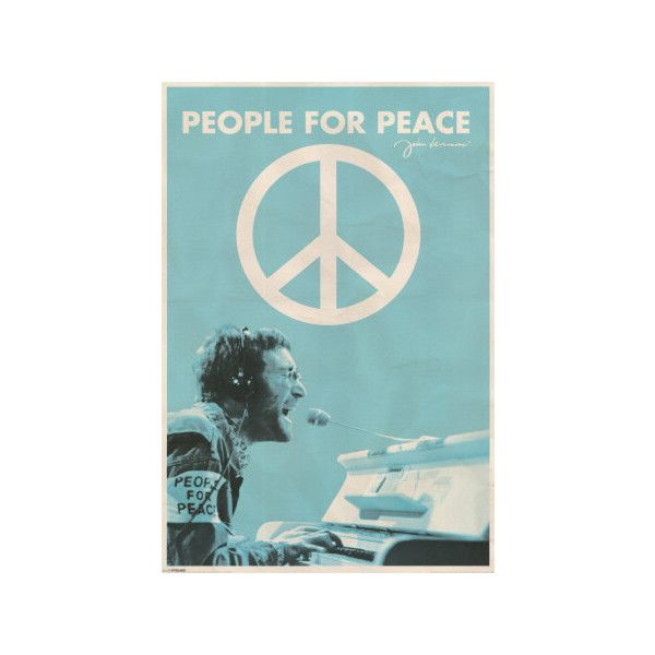 John Lennon - People for Peace Poster ($9.99) ❤ liked on Polyvore featuring home, home decor, wall art and john lennon poster