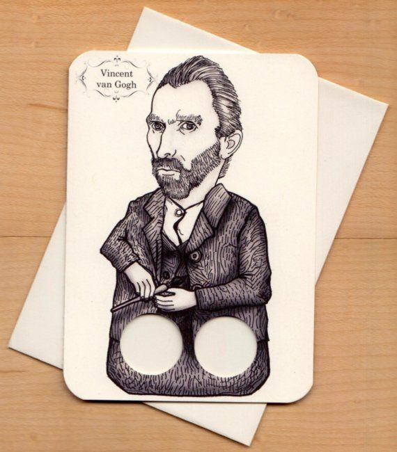 Van Gogh finger puppet   ;) Students could make these and do a presentation on a given artist yr 7-8 fun art history presentation ideas