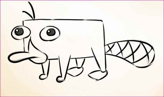 How To Draw Perry The Platypus Pet Version Is A Simple Character He Also Most Loved On Show Phineas
