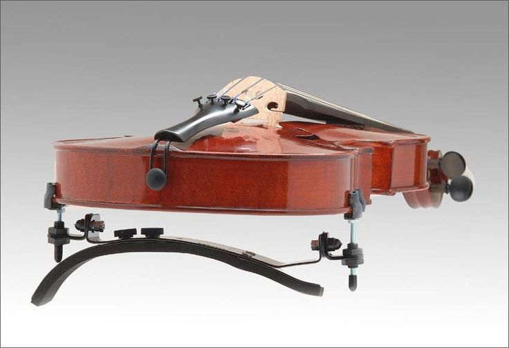 The Bonmusica violin shoulder rest is completely adjustable. The base can be manipulated to fit the player's shoulder and make it as comfortable as possible