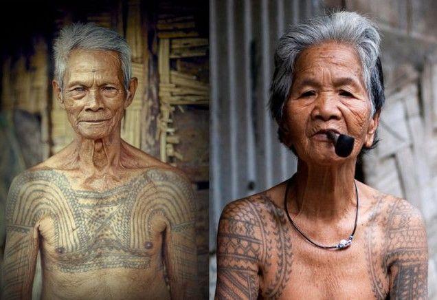 Dayak tribe tattoo, Borneo
