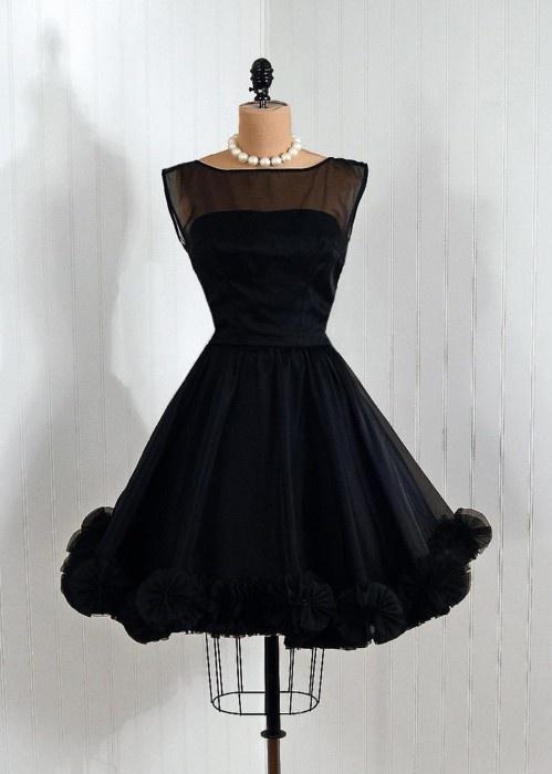 1950's Emma Domb Dress: 1950S Clothing, Fashion, Style, 1950S Emma, Dresses, Vintage Dress, 1950 S, Emma Hill, Black Dress